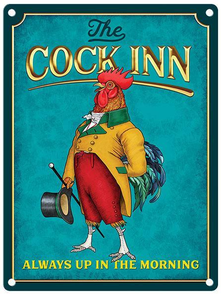The Cock Inn (Gentleman) Pub Sign