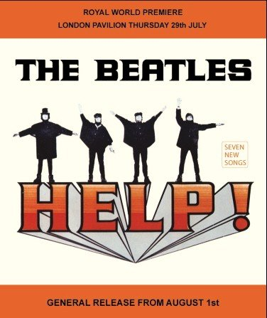 Beatles HELP Metal Wall Art