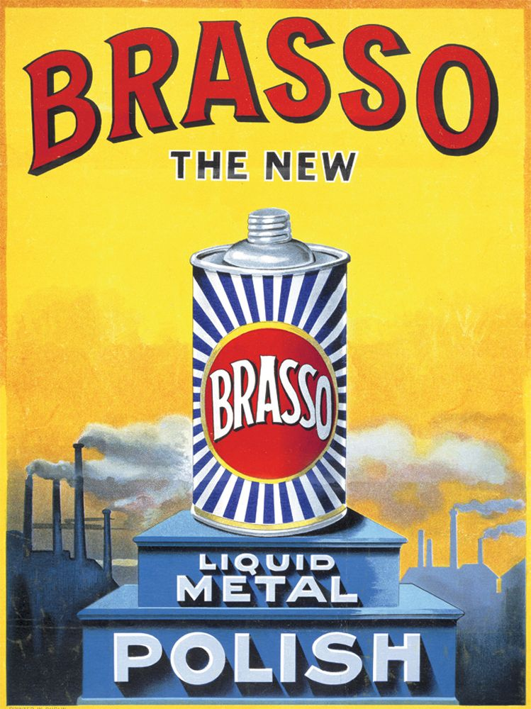 Brasso Vintage Advertising Metal Wall Art