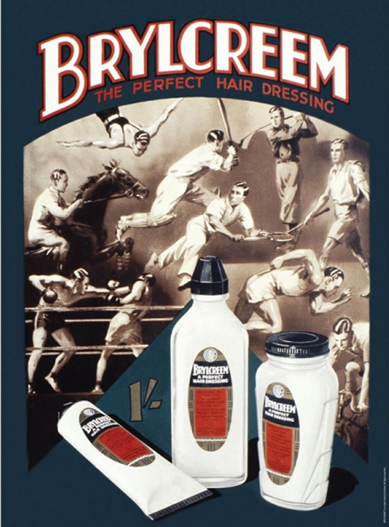 Brylcreem A3 Metal Wall Art