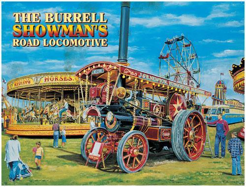 Burrell Showman Steam Engine Metal Wall Art