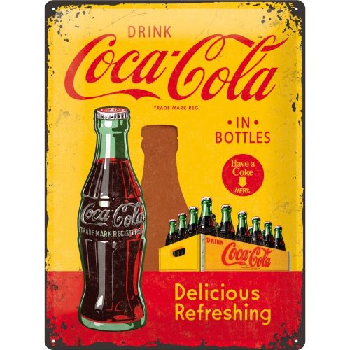 Coca Cola Bottle 3D Metal Wall Art
