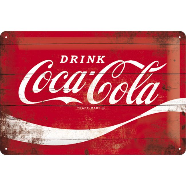 Coca Cola Red Sign 3D Metal Wall Art