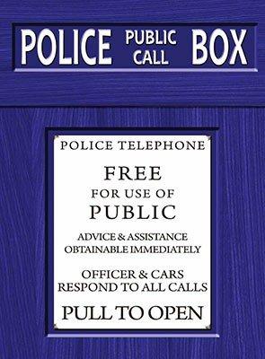 Doctor Who Police Box Metal Wall Art