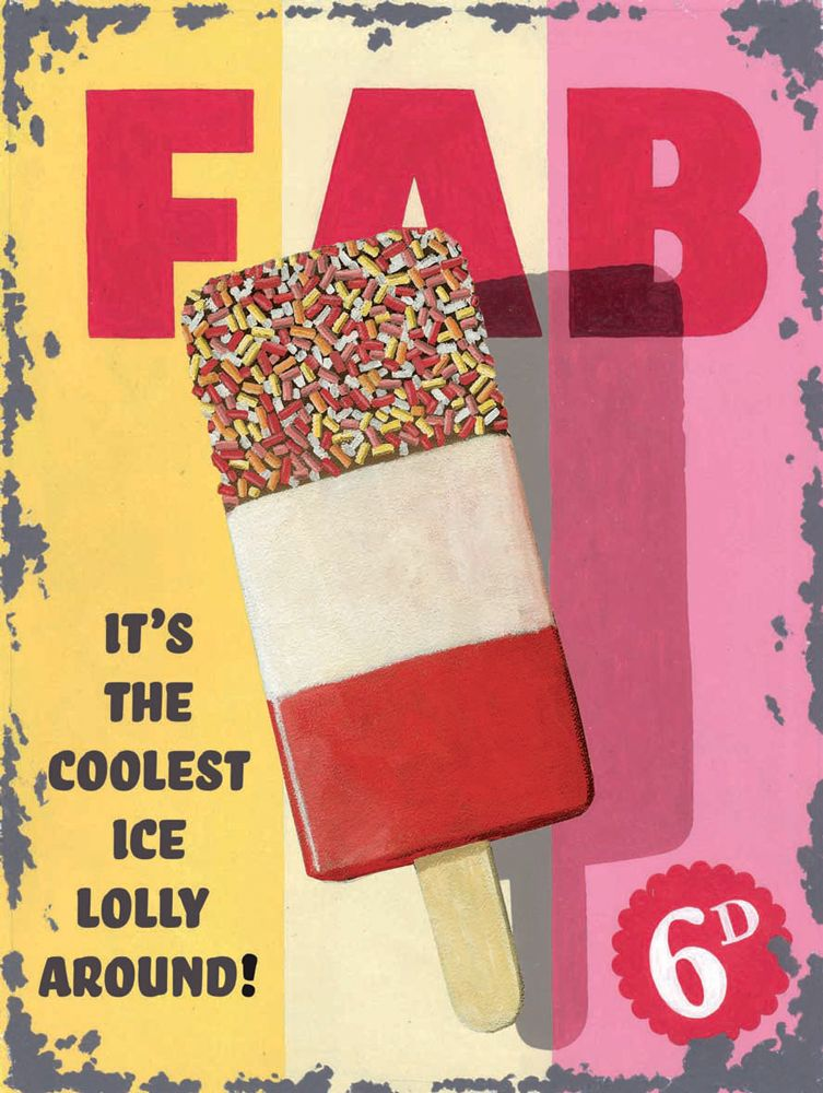 FAB Lolly Metal Wall Art