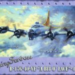 Flying Fortress Metal Wall Art