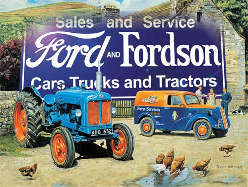 Ford and Fordson Trucks and Tractors Metal Wall Art