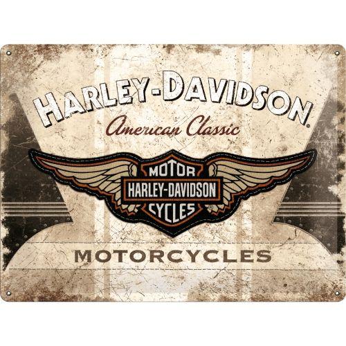 Harley Davidson Classic Logo 3D Metal Wall Art