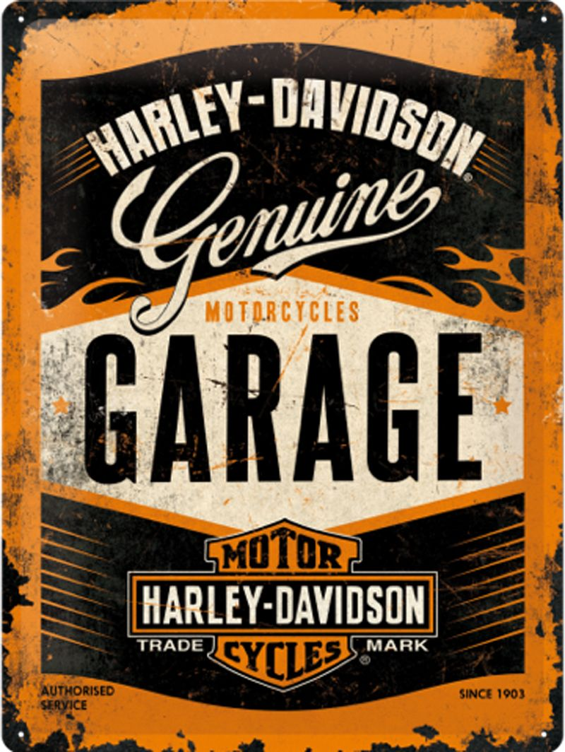 Harley Davidson Garage 3D Metal Wall Art