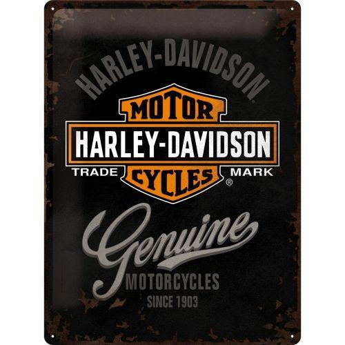 Harley Davidson Logo 3D Metal Wall Art