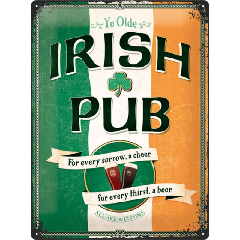 Irish Pub Sign 3D Metal Wall Art