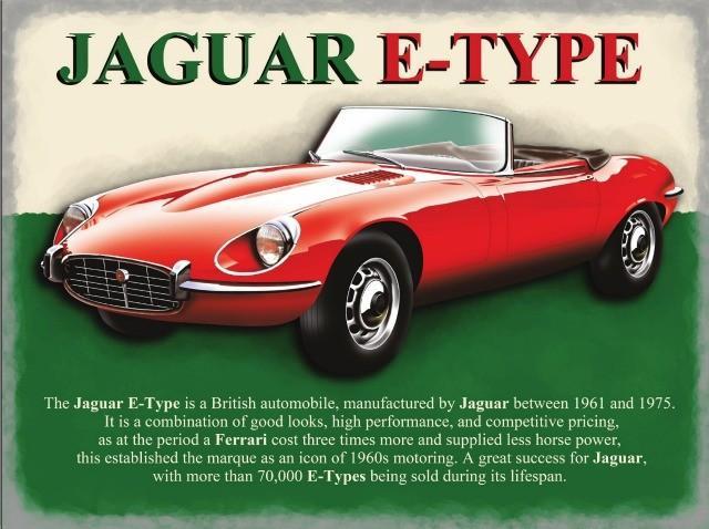 Jaguar E Type Metal Wall Art