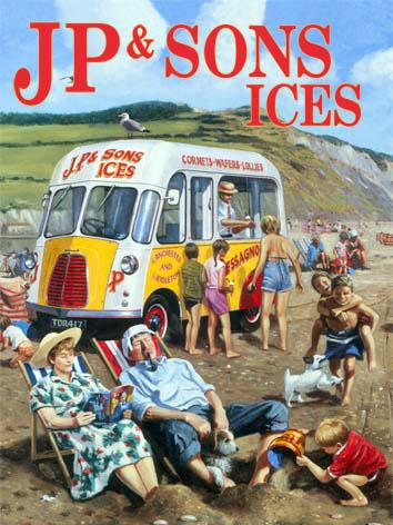 JP & Sons Ice Cream Van Metal Wall Art
