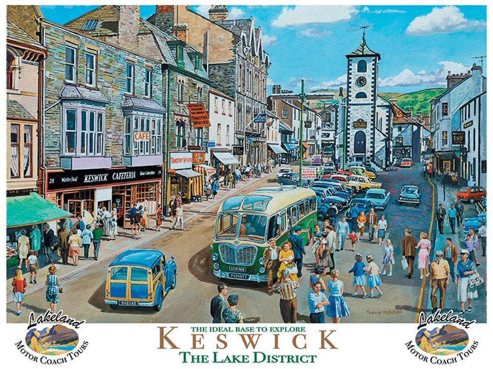 Keswick in the Lake District Metal Wall Art