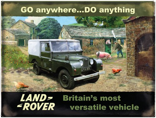 Land Rover on Farm Metal Wall Art