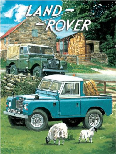 Land Rover Series 1 & Pick Up Truck Metal Wall Art