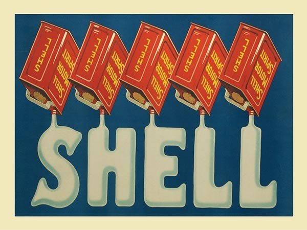 Shell Cans Vintage Sign Metal Wall Art