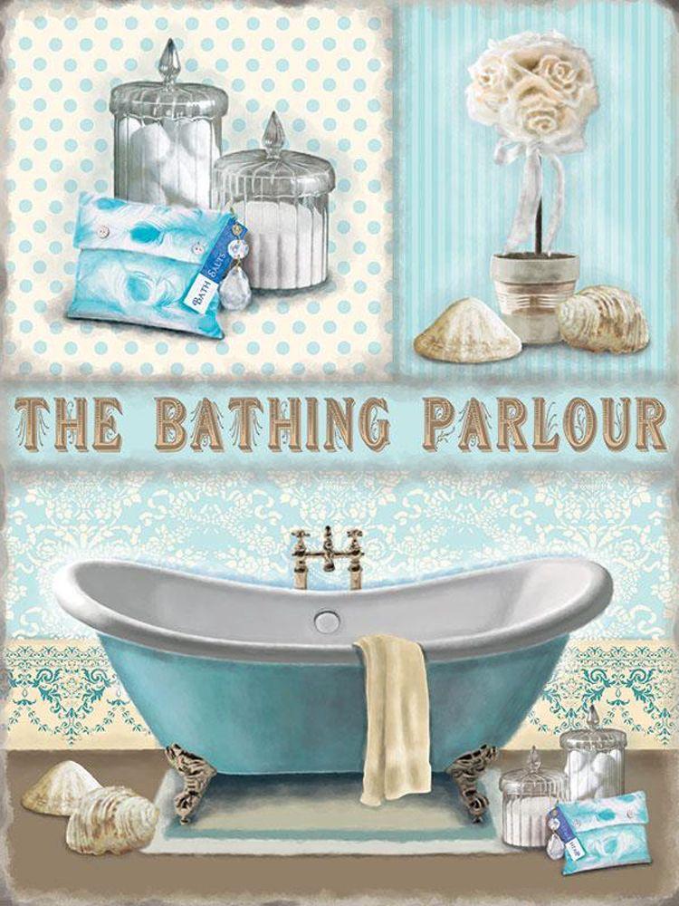 The Bathing Parlour Metal Wall Art