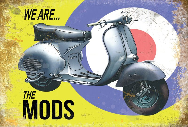 Vespa 'We are the MODs' Metal Wall Art