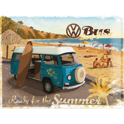 VW Camper 'Ready for Summer' 3D Metal Wall Art