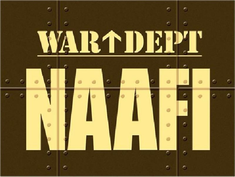 NAAFI Metal Wall Art