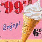 99 Ice Cream Wall Sign