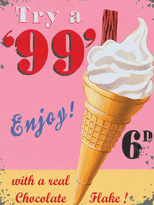 99 Ice Cream Wall Sign