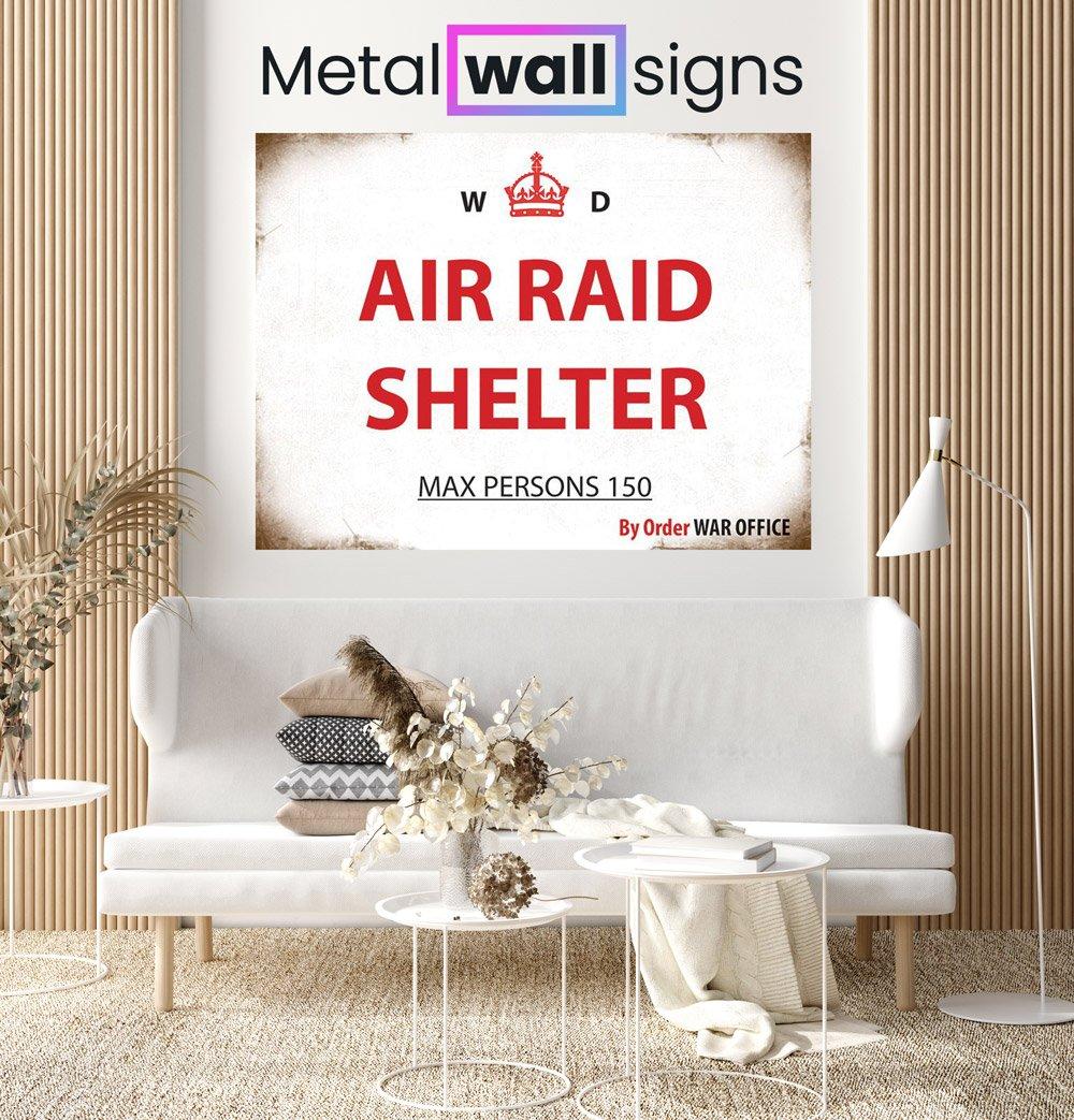 Air-Raid-Shelter-Wartime-Wall-Art-Sign-MWS