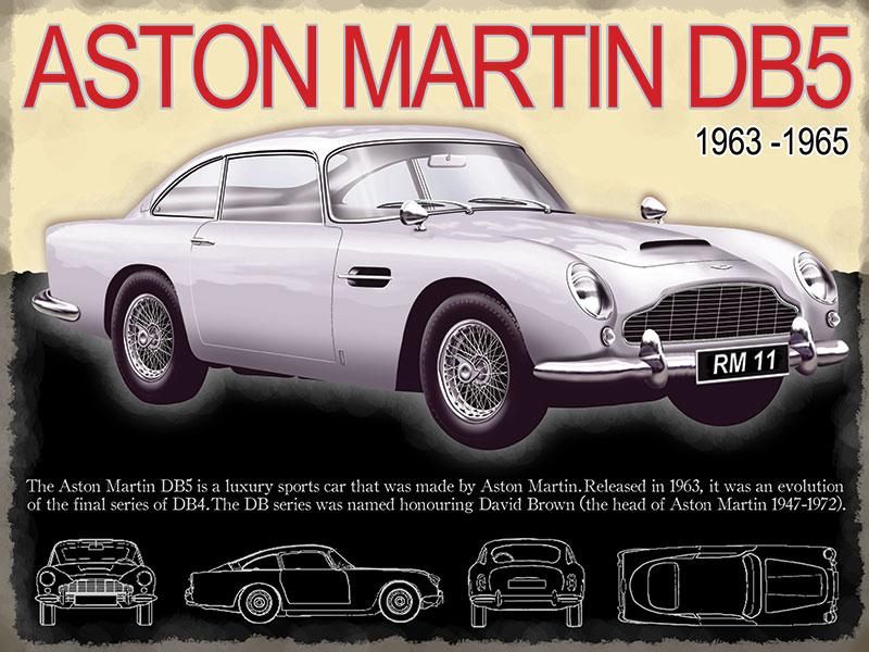 Aston Martin DB5 Metal Wall Sign