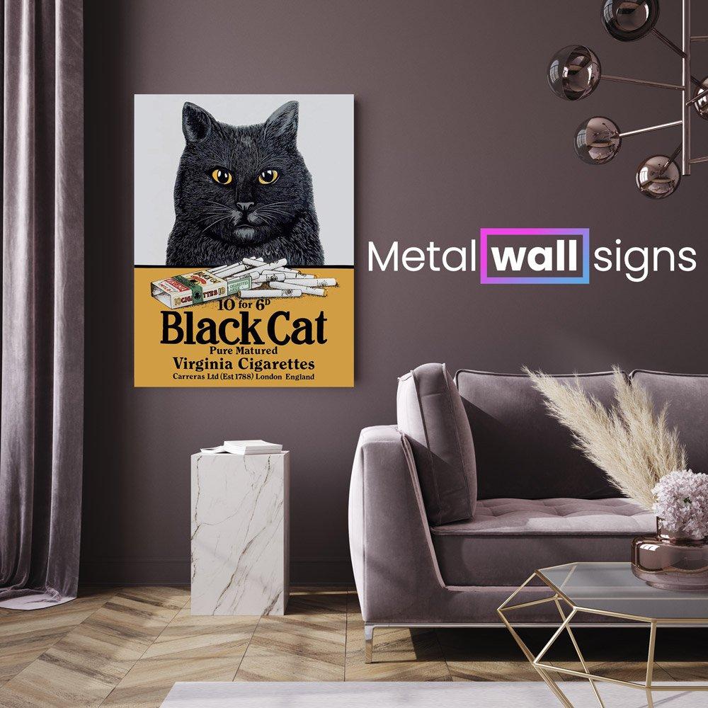Black-Cat-Cigarettes-Metal-Wall-Art-Sign-MWS