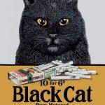 Black Cat Cigarettes Wall Sign