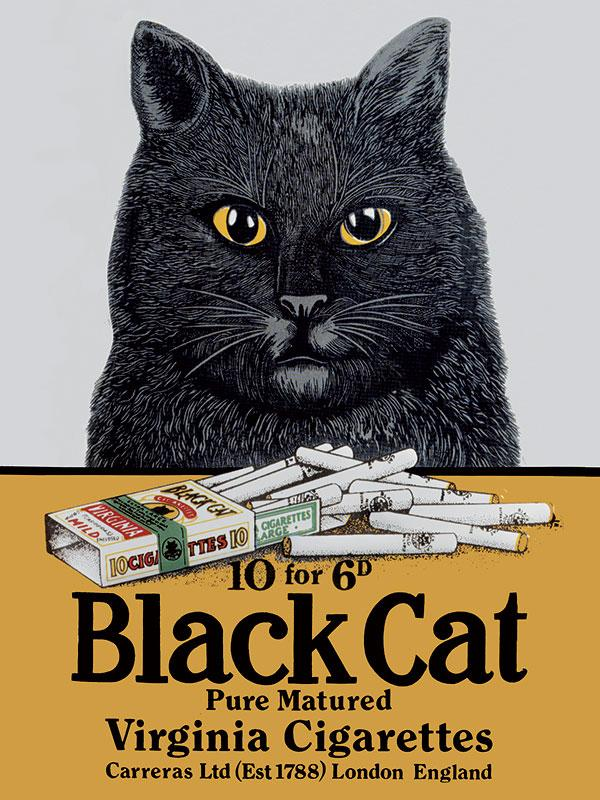 Black Cat Cigarettes Wall Sign