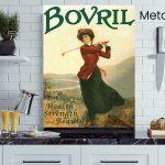 Bovril-Golfer-Lady-Metal-Wall-Art-Sign-MWS