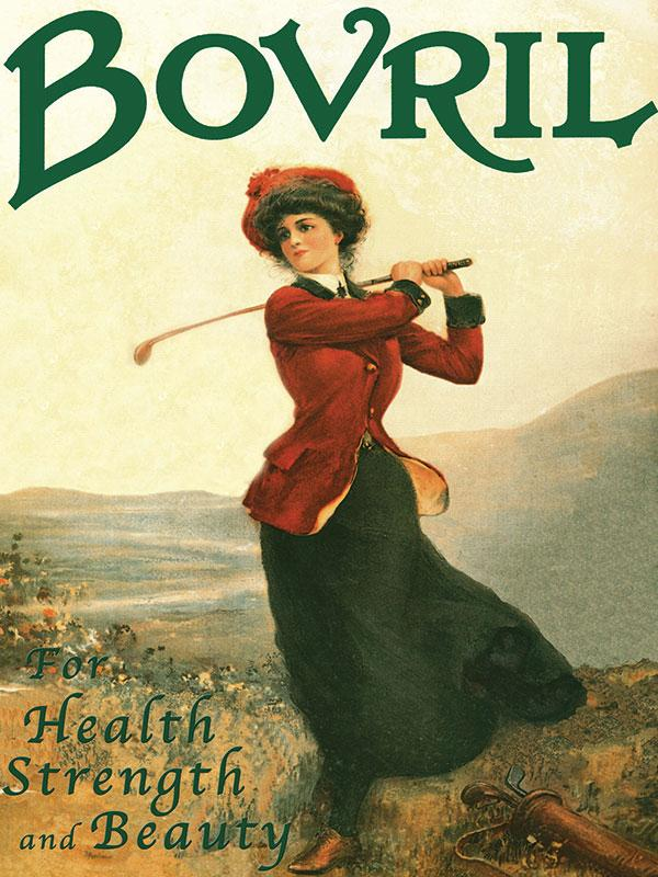 Bovril Lady Golfer Wall Sign