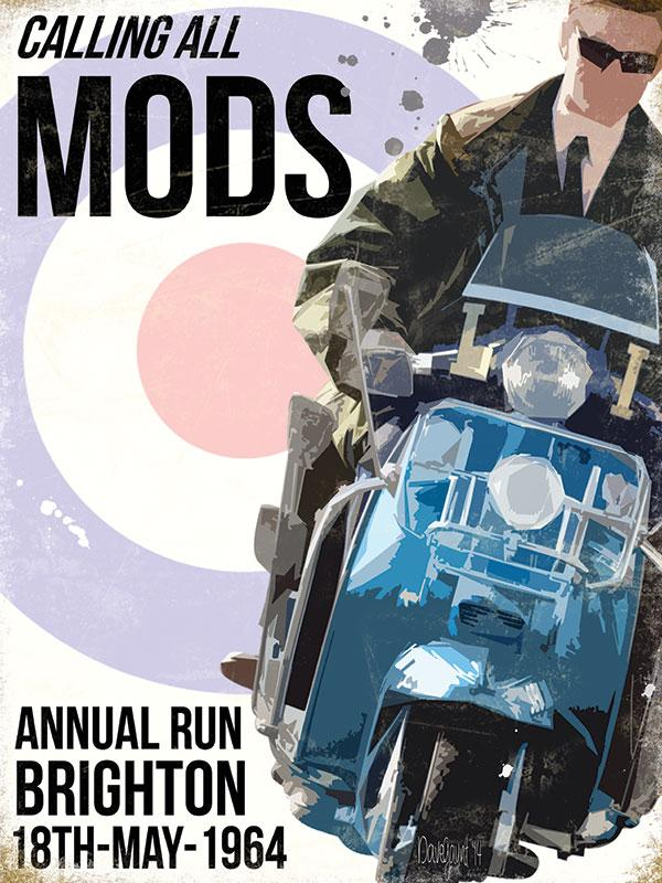 Calling All Mods Metal Wall Sign
