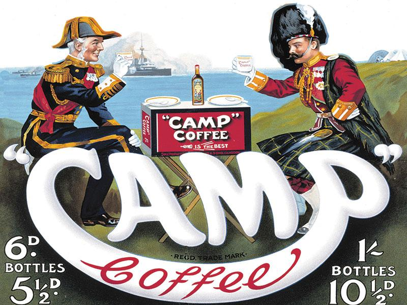 Camp Coffee Metal Wall Sign