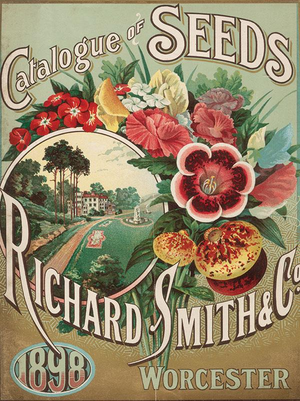 Catalogue of Seeds Advert Sign