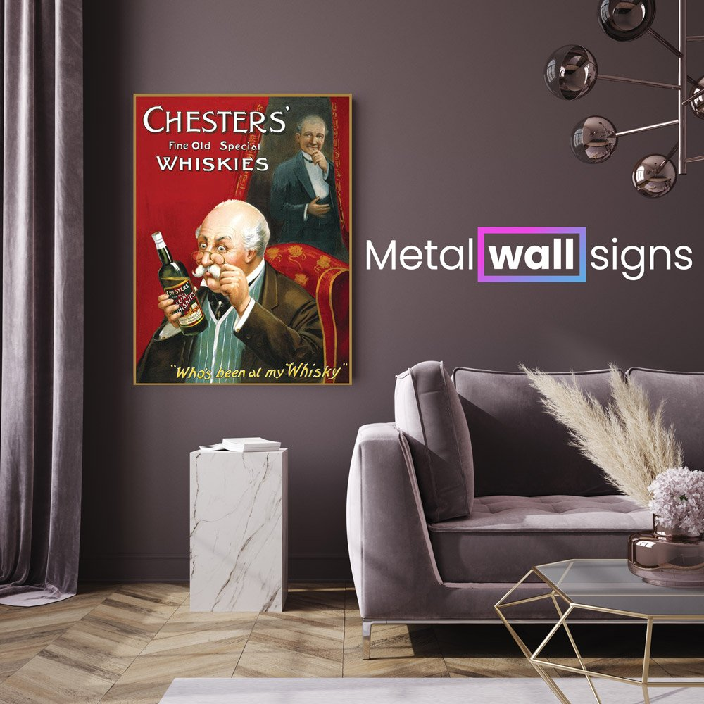 Chesters-Whiskey-Metal-Wall-Art-Sign-MWS