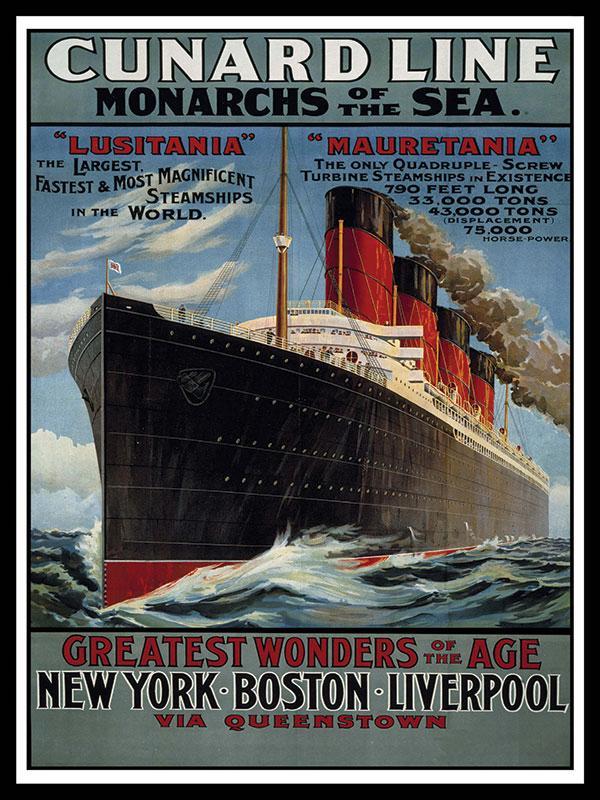 Cunard Line Metal Wall Sign