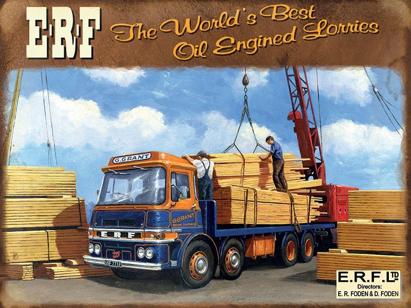 ERF Truck Metal Wall Sign