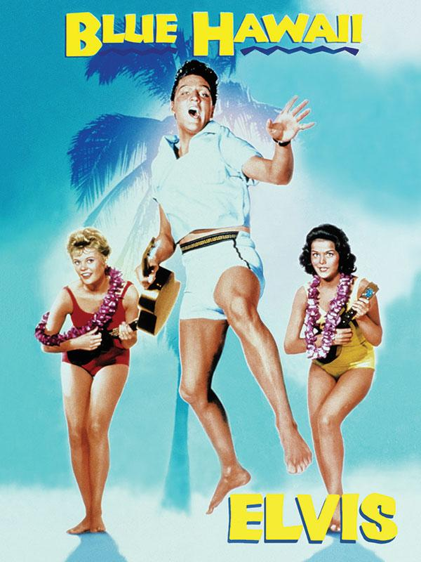 Elvis Blue Hawaii Wall Sign