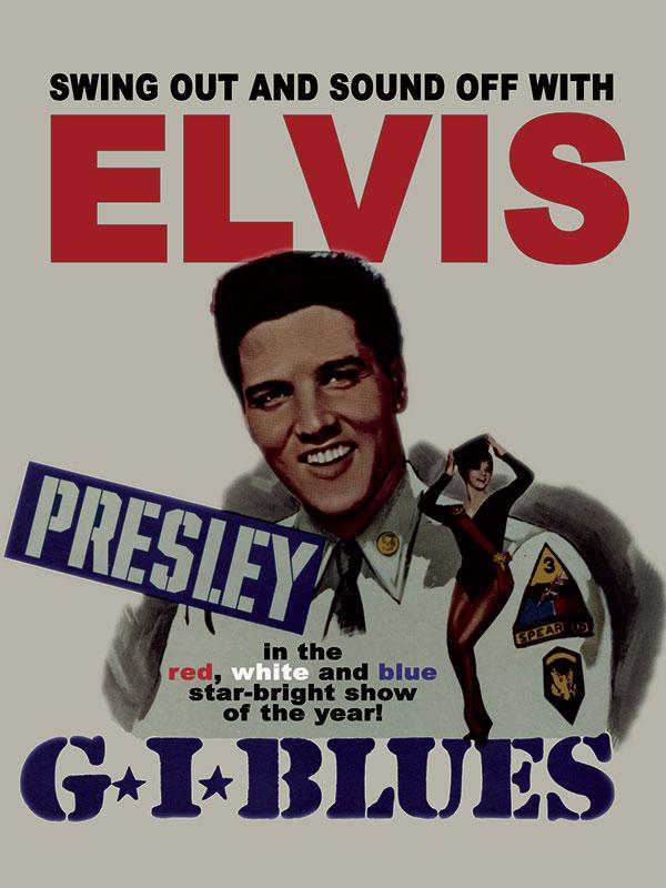Elvis GI Blues Wall Sign
