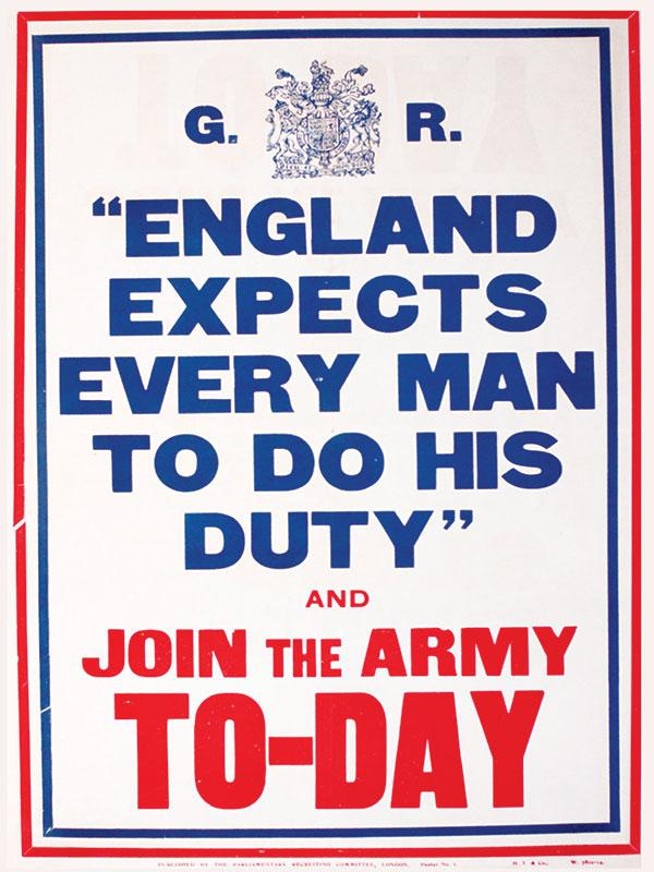 England Expects Wartime Sign