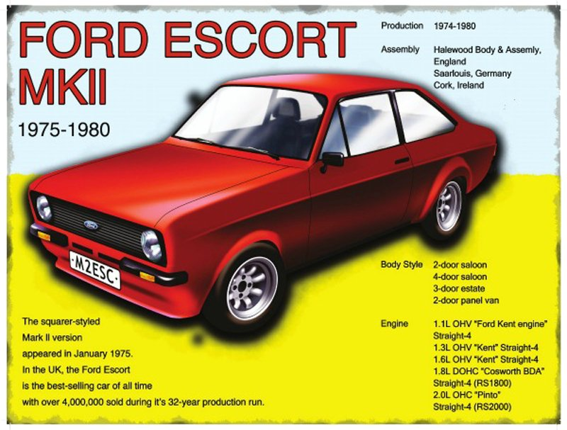 Ford-Escort-MKII-Metal-Wall-Sign