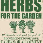 Garden Herbs Metal Wall Sign
