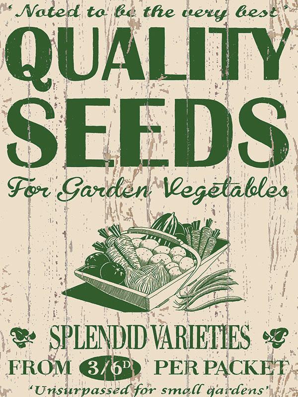 Garden Seeds Metal Wall Sign