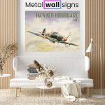 Hawker-Hurricane-MK1-Wartime-Wall-Art-Sign-MWS