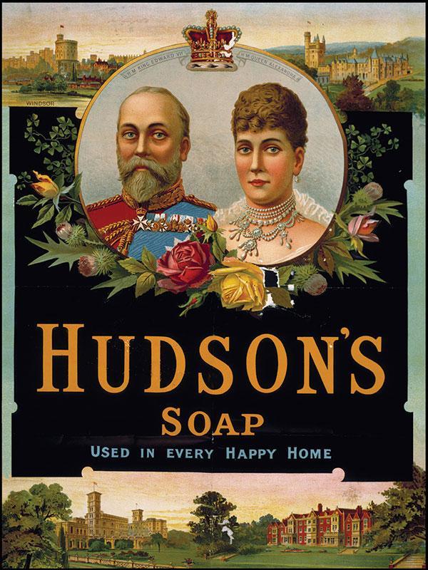 Hudsons Soap Metal Wall Sign