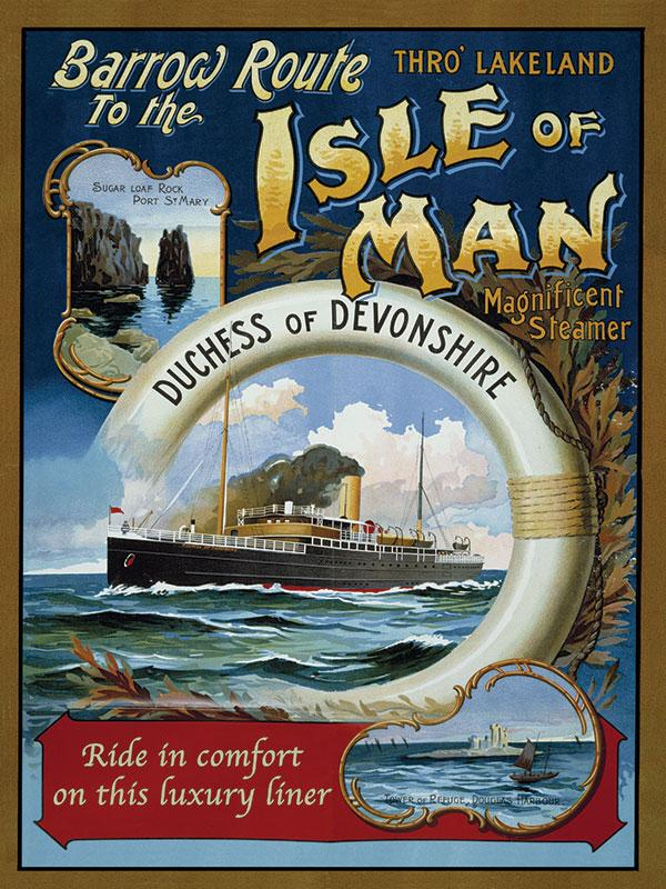 Isle of Man Steamer Advert Sign