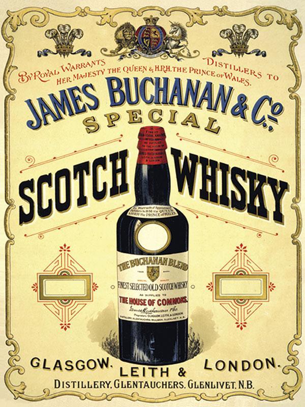 James Buchanan Scotch Whiskey Sign